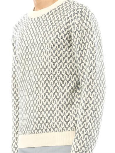 Patrik Ervell Pattern cotton-knit sweater