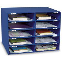"Classroom Keepers® Mailbox - 10 Slots - 21"" W x 12-7/8"" D x 16-5/8"" H"