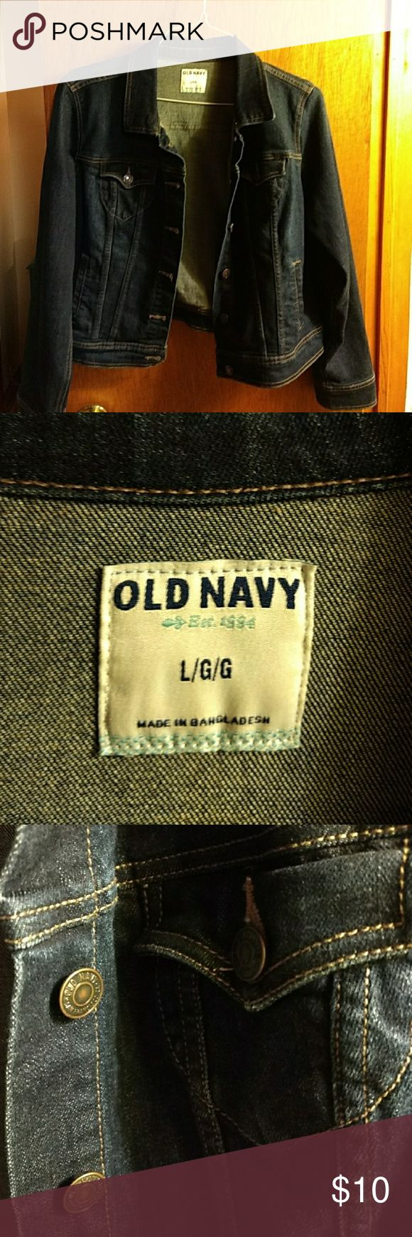 Old Navy Jean Jacket Old Navy Jean Jacket size large - dark color Old Navy Jackets & Coats Jean Jackets