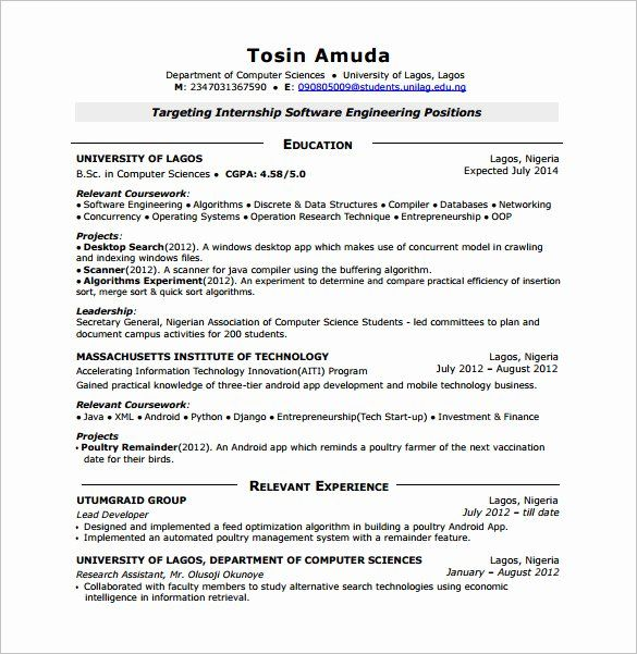 Entry Level Software Developer Resume Inspirational 14 Android Developer Resume Templates Fre In 2020 Free Resume Template Word Job Resume Samples Resume Template Free