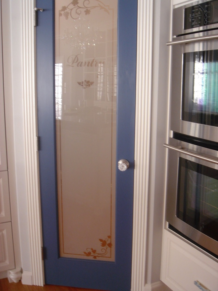 Beautiful Iu0027ve Always Liked These Frosted Glass Pantry Doors. Pretty Blue! Home Design Ideas