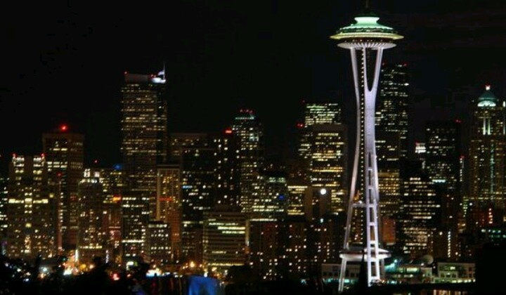 Seattle & the Space Needle @ Night ~ taken by my very Good Friend, Rich Veum...