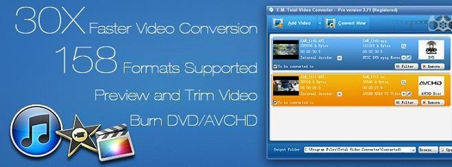 Total Video Converter, a very powerful Avi to Mp4 Video Converter, convert any video files to avi, 3gp, mp4, psp, iPod, iPhone, flv, DVD, VCD. http://www.effectmatrix.com/total-video-converter/