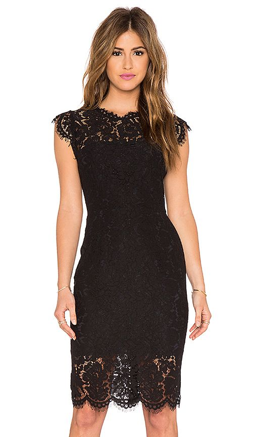 RACHEL ZOE Suzette Lace Mini Dress in Black | REVOLVE