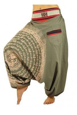 Pantalones Bombachos para Hombre y Mujeres Como Rropa Hippie Alternative y Pantalones Cagados Estilo Harem LFSgp2