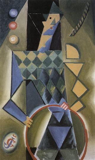 Josef Čapek (Czech 1887–1945) [Cubism] Clown, 1914-1915. Alšova jihočeská galerie v Hluboké nad Vltavou.