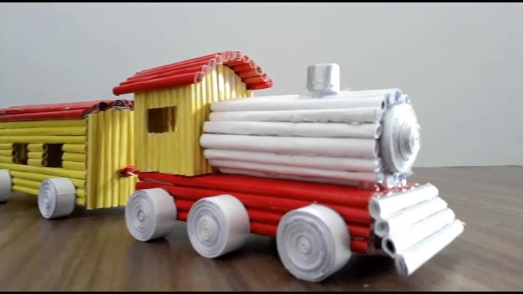 How to make a paper train very easy
