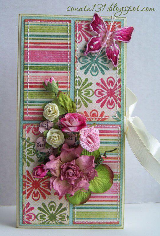 Скрапбукинг открытка для шоколадки