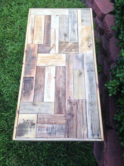 Coffee Table Reclaimed Pallet Wood Coffee Table by EraLeaven