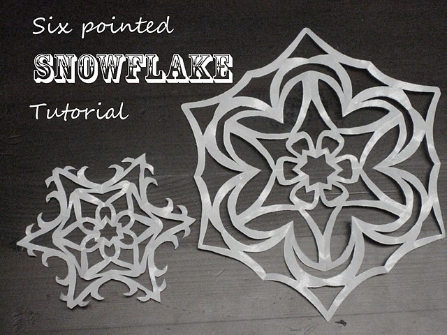 FREEBIE Tutorial - How to cut a 6 Pointed Snowflake!! Better than the old snowflake I used to cut!!