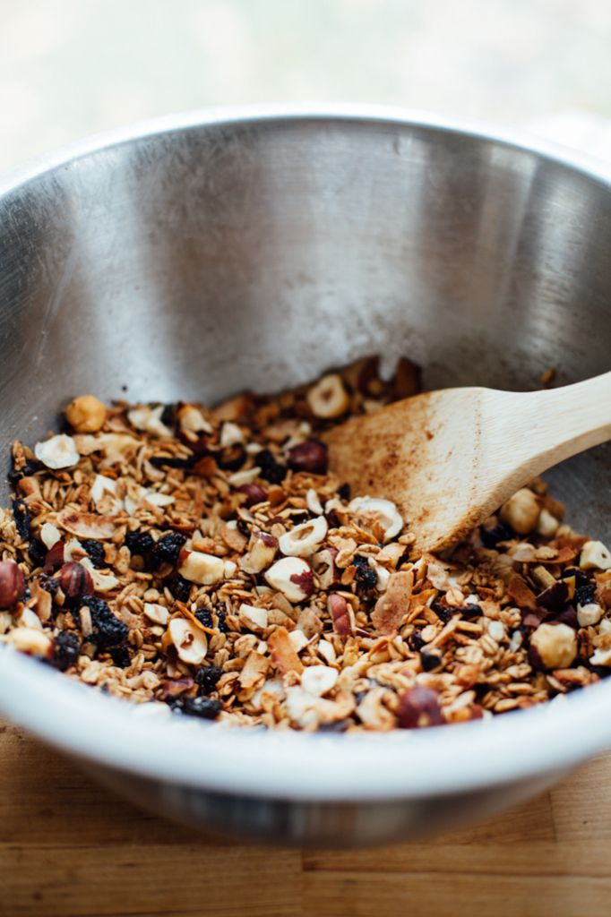 bohemian dream gift granola (coconut, cherry, hazelnut & hemp chocolate) via will frolic for food (gluten free, vegan)