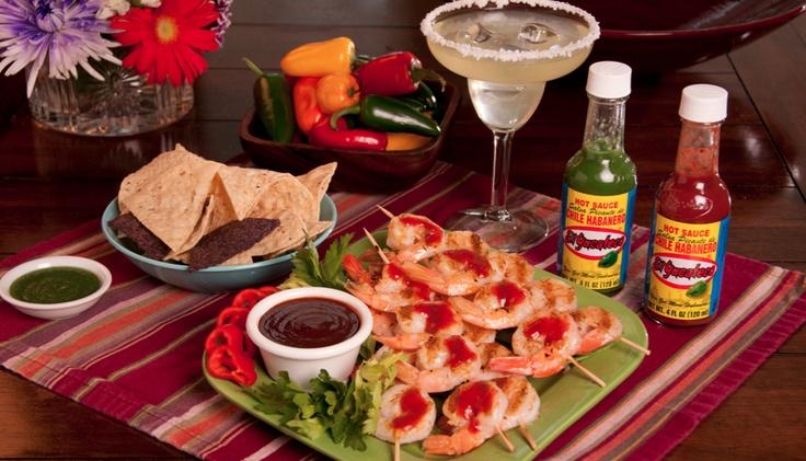 #Habanero Grilled Shrimp
