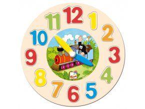 Dřevěné hodiny - Krtek Bino Clock