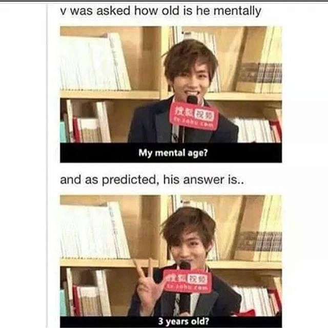 Es tan adorable, lo bueno es que es sincero sobre su edad mental❤❤❤❤