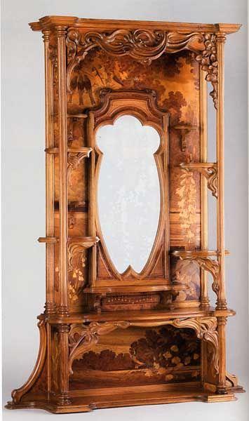 Cadre de glace de trumeau ou de console vers 1898-1900 Emile Gallé (1846-1904) collection of Musée d'Orsay: