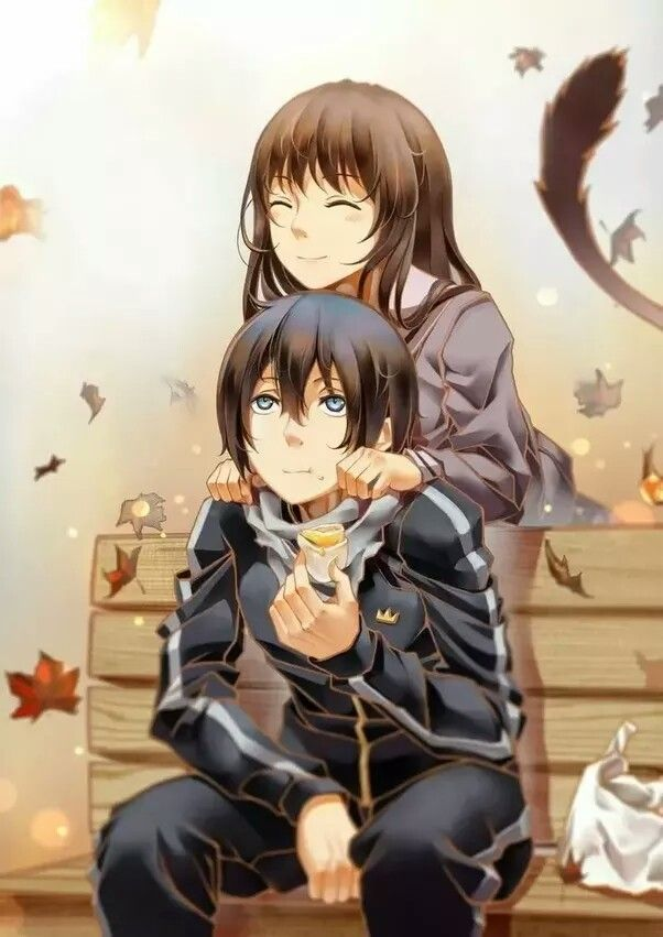 Noragami Yato and Hiyori art