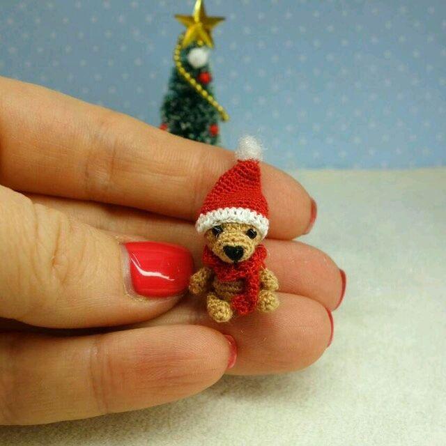 Crochet micro toy |  Купить Мини мишка 2 см в интернет магазине на Ярмарке Мастеров