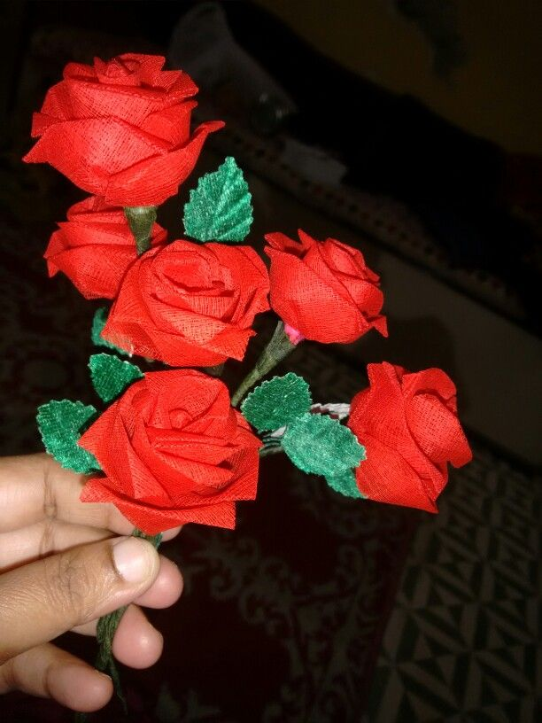 Organdy flowers made by me