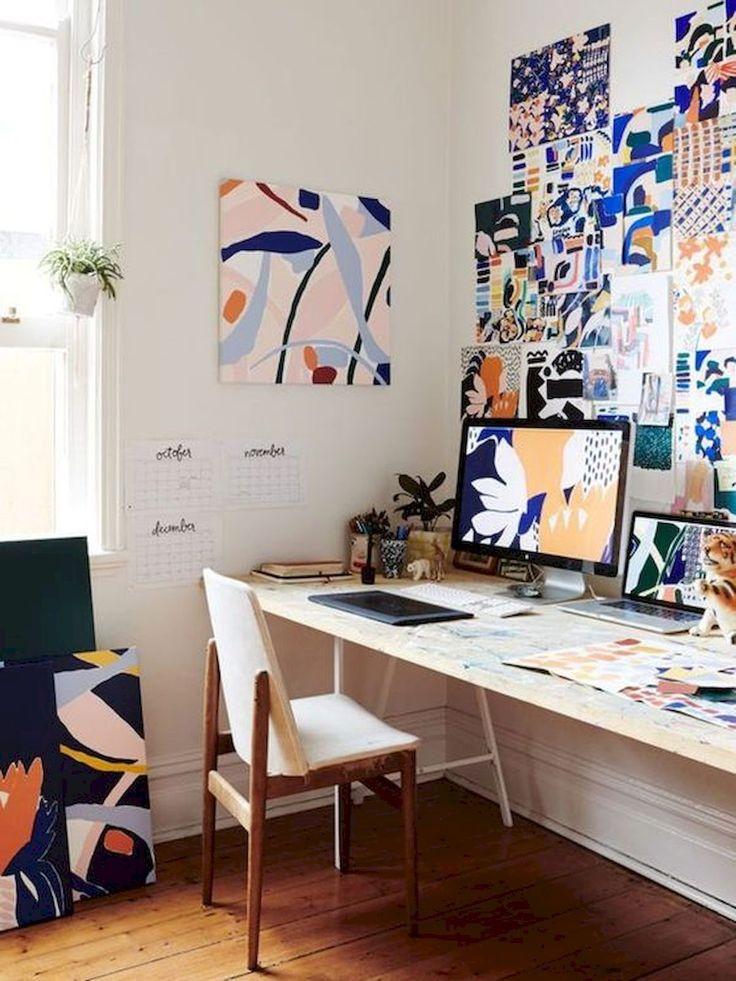 Idéias para pequenos espaços favoritos de DIY Art Studio (28)   – Studio Love