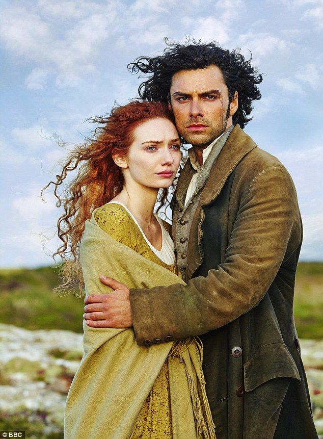 Gripping viewing: Eight million fans tuned in to watch Poldark and Demelza's (Eleanor Tomlinson) love story