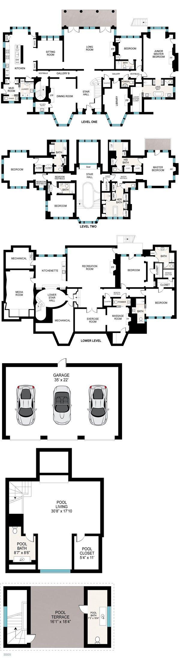 1063 best Castles and Estate Home Plans images on Pinterest | Floor ...