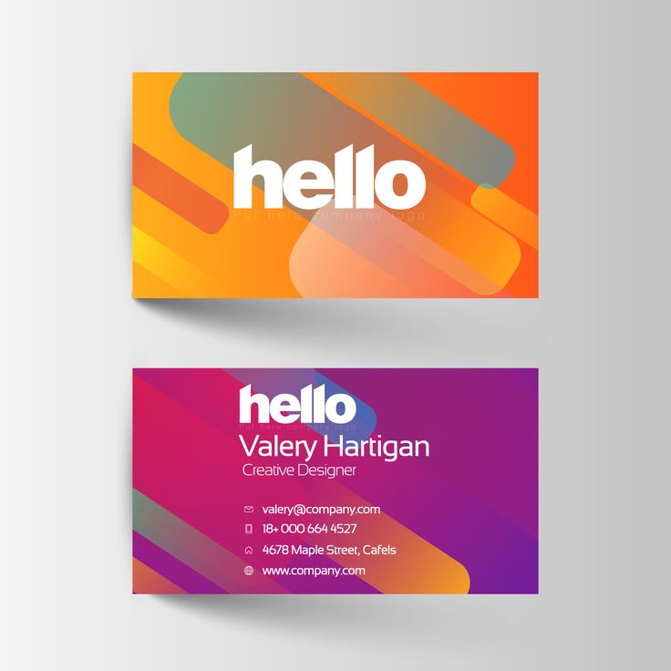 35 best business card design images on pinterest name cards free colourful name card template name card templates reheart Choice Image