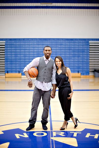 This is the general idea of my love and basketball theme wedding. Engagement Shoot - Brittany and Keith