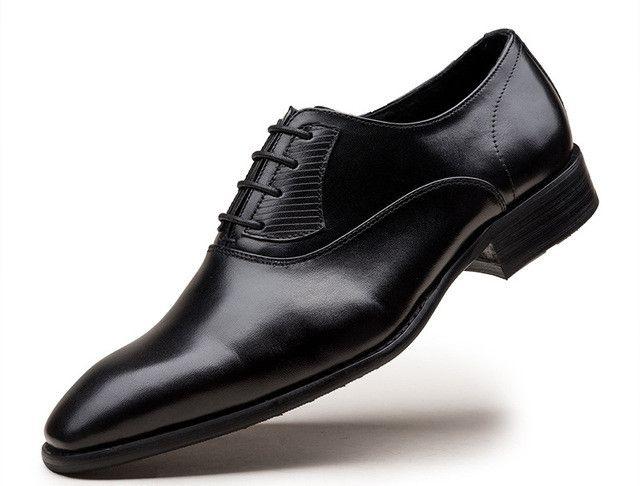 Genuine Leather Lace-up Italian Men's Dress Shoes - z693