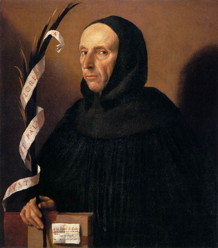 MORETTO da Brescia (b. ca. 1498, Brescia, d. 1554, Brescia) Portrait of a Dominican, Presumed to be Girolamo Savonarola 1524 Oil on canvas, 74 x 66 cm Museo di Castelvecchio, Verona Although this picture was painted well after the execution of the charismatic theologian Girolamo Savonarola (1452-1498), comparison with documented portraits gives credence to this traditional identification. Savonarola was revered throughout northern Italy at this period, and especially in Milan and Brescia…
