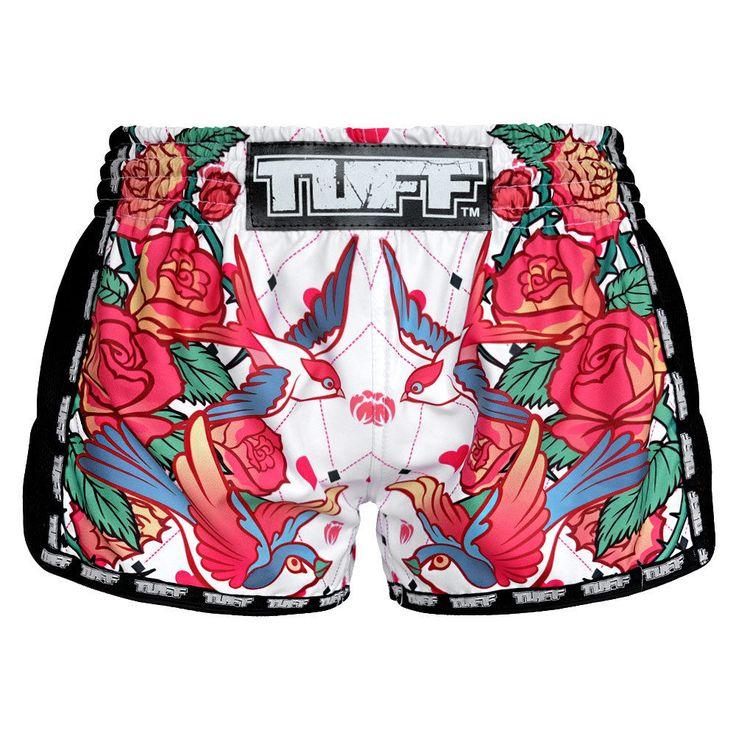 QQ Womens Boxing Shorts Womens Gym Shorts Small Youth Muay Thai Training Yoga #TuffSport