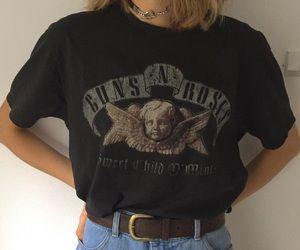 fashion bands band tee tshirt grunge black dark soft grunge guns n roses