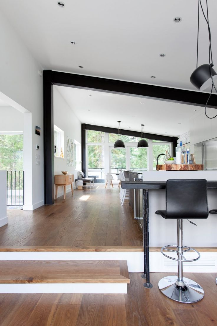 Stark Architecture overhauls Whistler home with black cladding and monochrome interiors