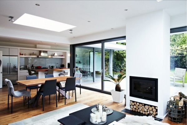 glass extension dining area