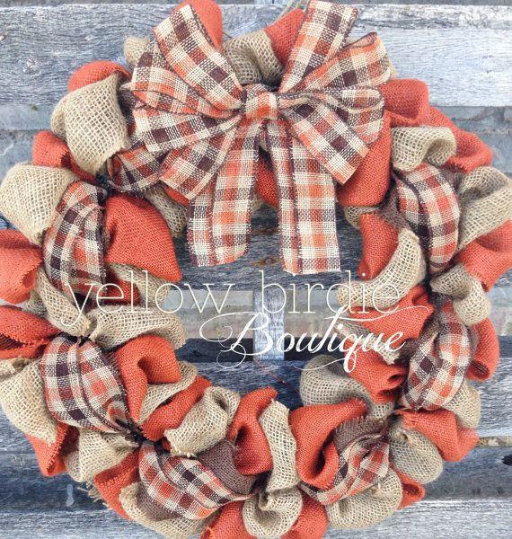Burlap Wreath, Fall Wreath, Autumn Wreath, Fall Burlap Wreath, Home Decor