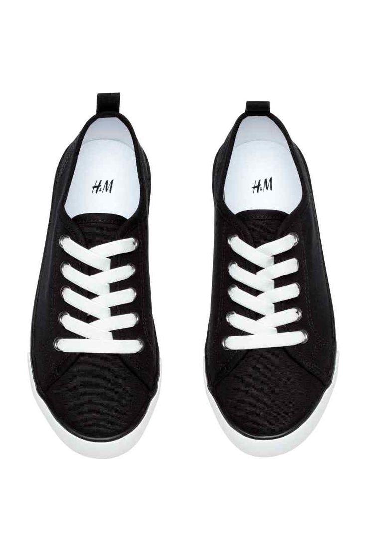 Sneakers van canvas - Zwart - KINDEREN | H&M NL