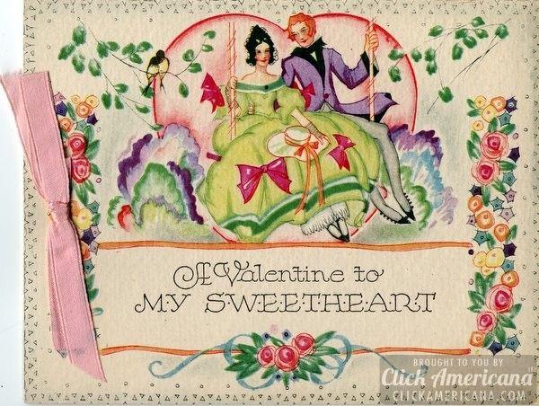 37 best Vintage Valentines Day images on Pinterest  Vintage maps