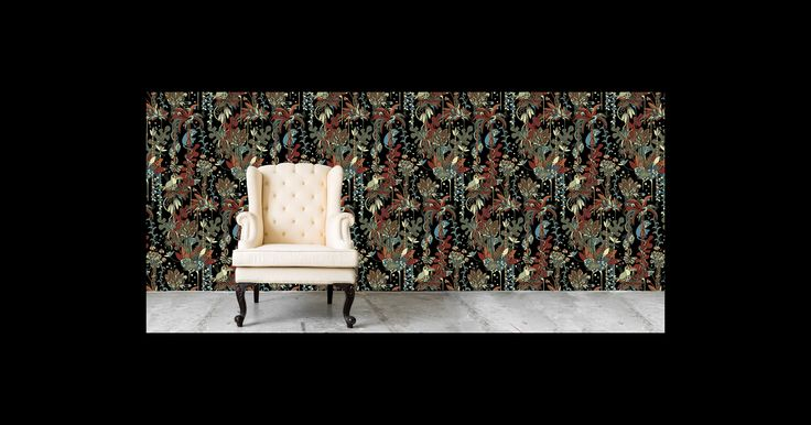 Tropical Collection Wallpaper Pattern and product design by Plattform Studio