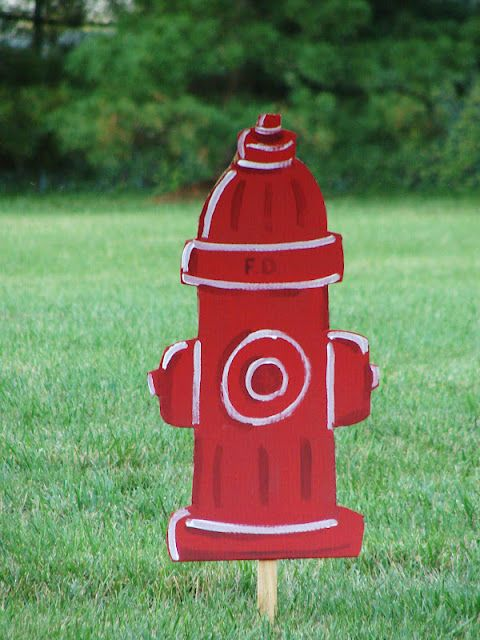 Firefighter Birthday decor @ mk inspired :)     (fire hydrant)