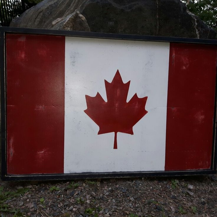 My first Canadian Flag project