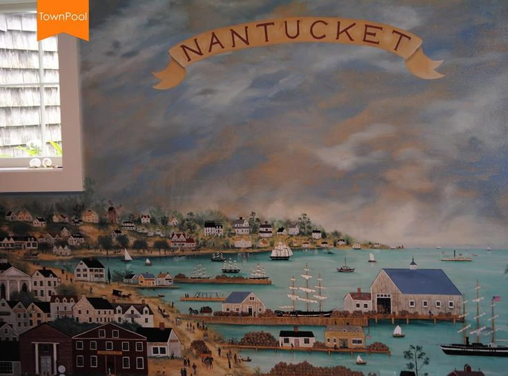 1800s View Of Nantucket Harbor Painted By Charlie And