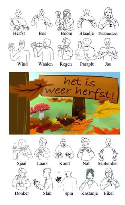 Herfst woordenwolk