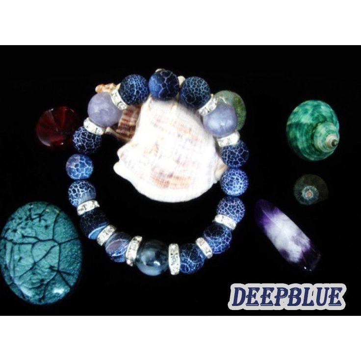 Women Bracelet made from Semi-precious beads - AGATE- Tourmaline FREE EU DELIVE
