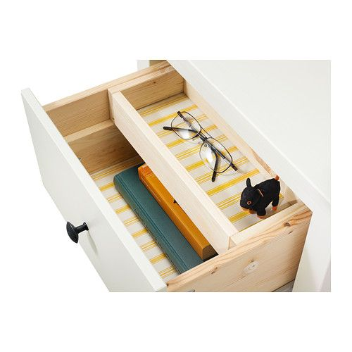 HEMNES Chest with 2 drawers IKEA Made of solid wood, which is a durable and warm natural material. The drawer insert is perfect for small th...