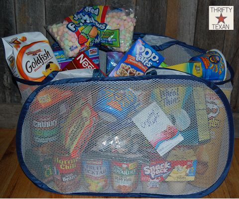 212 best teen gift basket images on pinterest gift ideas creative thrifty dorm gift for college students negle Images