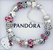 New Authentic S Silver Pandora Bracelet Sanrio Hello Kitty Charm Red Gift