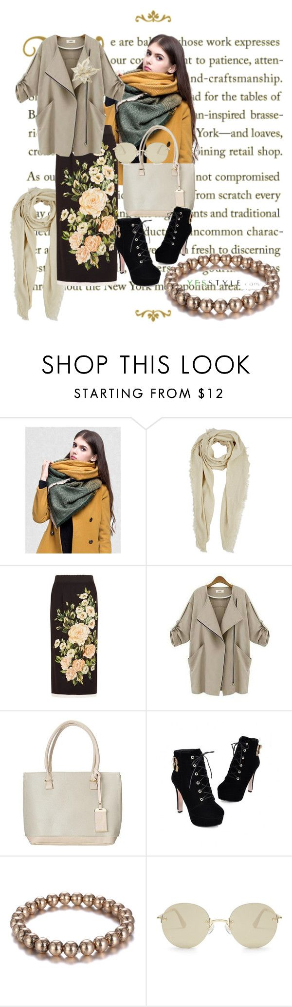 """""""Yesstyle"""" by vaslida ❤ liked on Polyvore featuring Buji Baja, Dolce&Gabbana, Eloqueen. """""""
