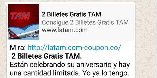Este supuesto concurso que regala viajes de Latam es falso