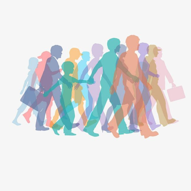 Crowds Of People Silhouette Png And Vector Silhouette Png Graphic Resources People Crowd