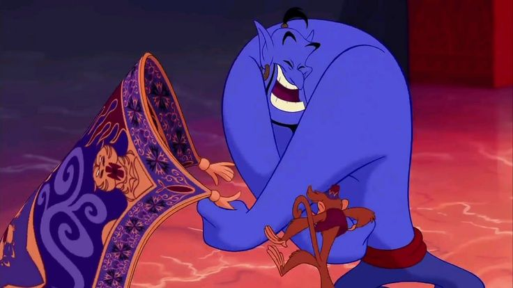 Genie (and his sidekick the carpet) in Aladdin #jester #archetype #brandpersonality
