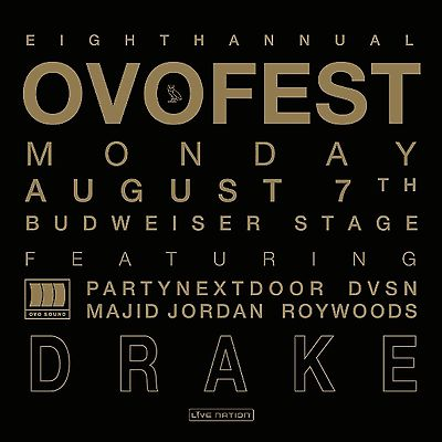 #tickets OVO Music Fest (Aug 8, 2017) ft. Drake & more - Two Lawn tickets (GA) please retweet